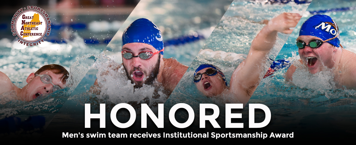 Men's swim team receives Institutional Sportsmanship Award