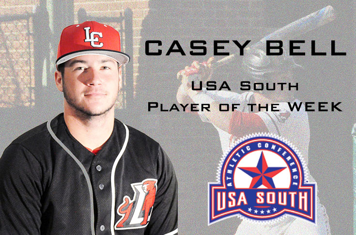 Baseball: Casey Bell named USA South Player of the Week for the second time