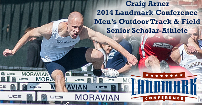 Arner Selected as Landmark Conference Men's Track & Field Senior Scholar-Athlete