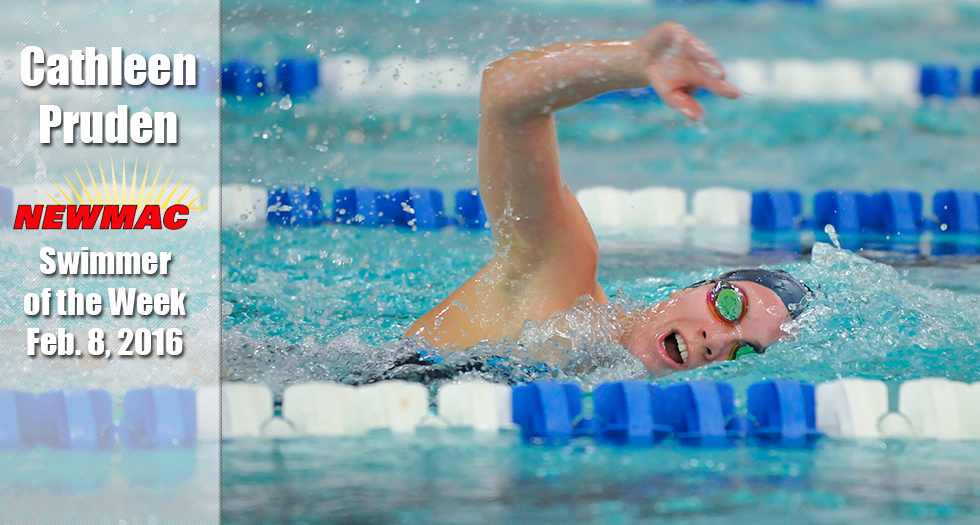 Pruden Named Top NEWMAC Swimmer For Fourth Straight Week