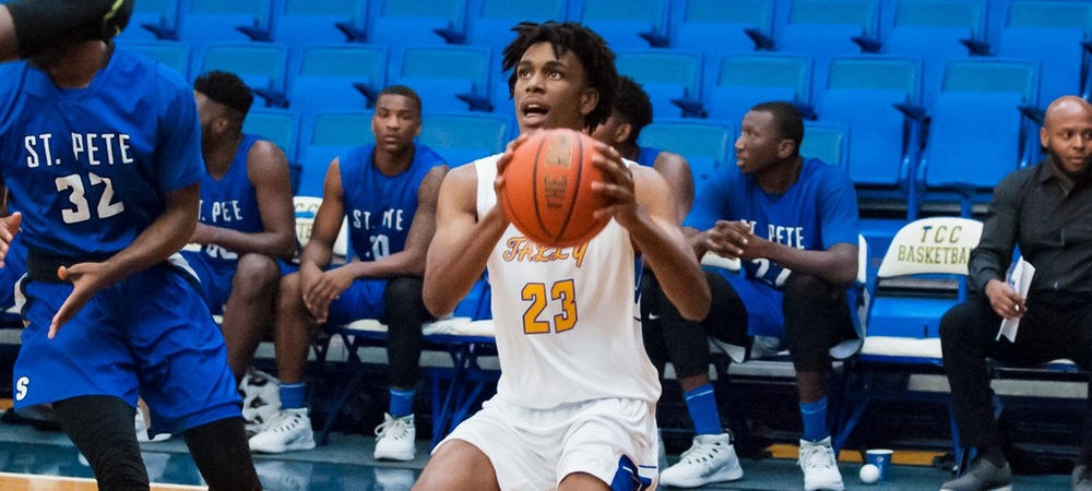 Javien Williams led the Eagles with 26 points at Gulf Coast State (photo courtesy of Greg Rowland)