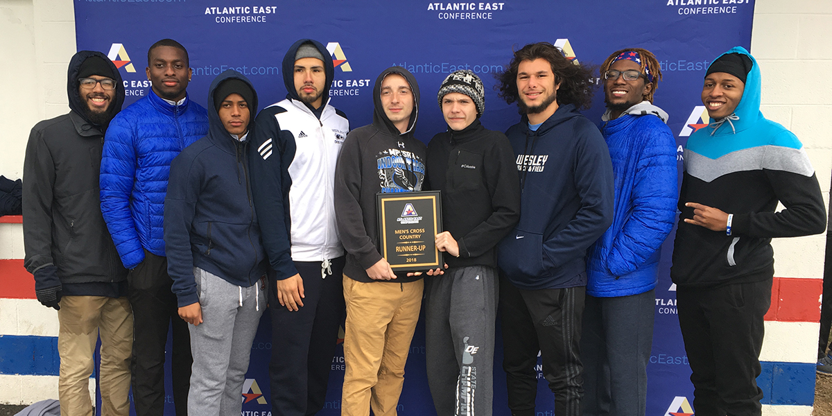 Wesley men finish second at Atlantic East Championships; Anastasi, Dawson earn conference honors