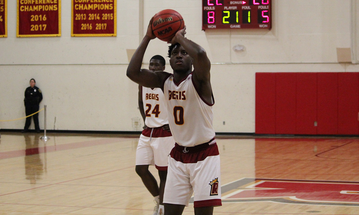Regis Men's Hoop Falls in Overtime