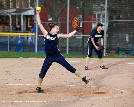 Hood pitchers dominate Gallaudet batters