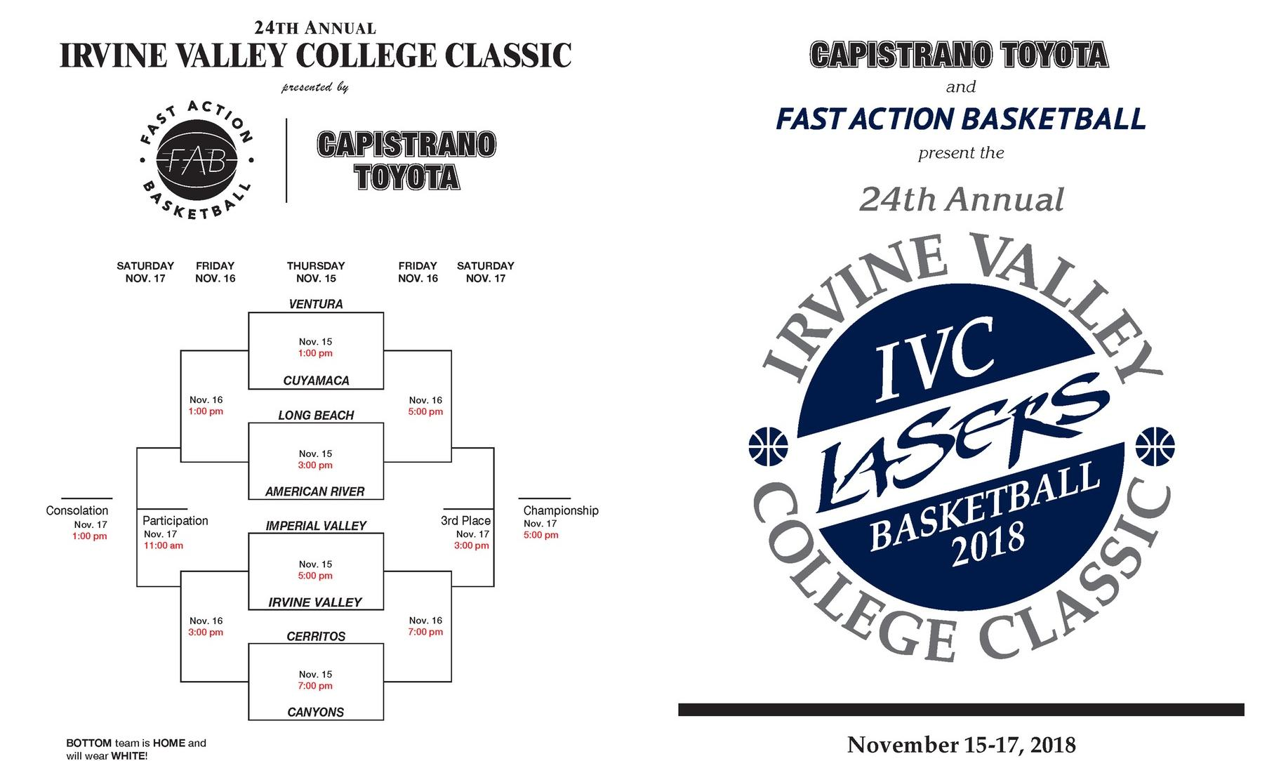 24th Annual Irvine Valley College Classic tips off Thursday