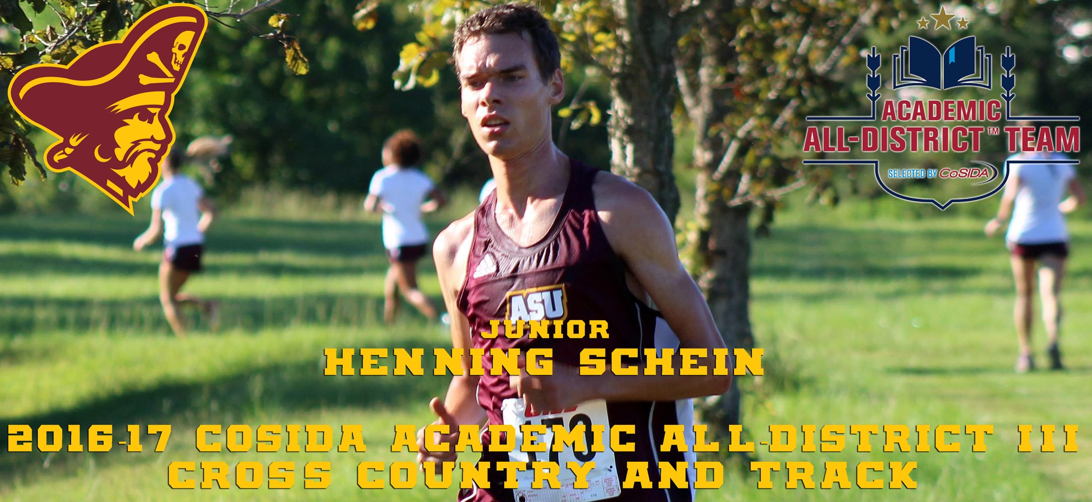 Henning Schein Earns CoSIDA Academic All-District III Cross Country/Track Honors