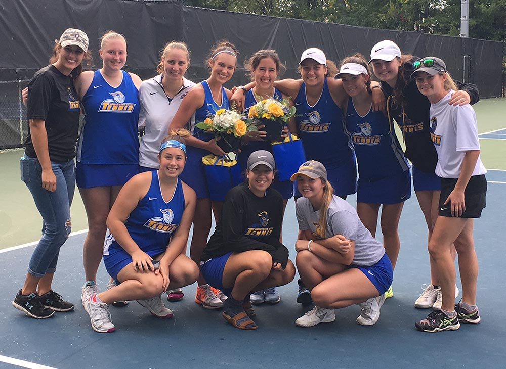 Women's Tennis Topped by Bridgewater State on Senior Day, 7-2