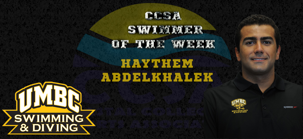 Abdelkhalek Named CCSA Swimmer of the Week