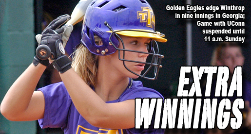 Golden Eagles edge Winthrop in nine innings; UConn game suspended
