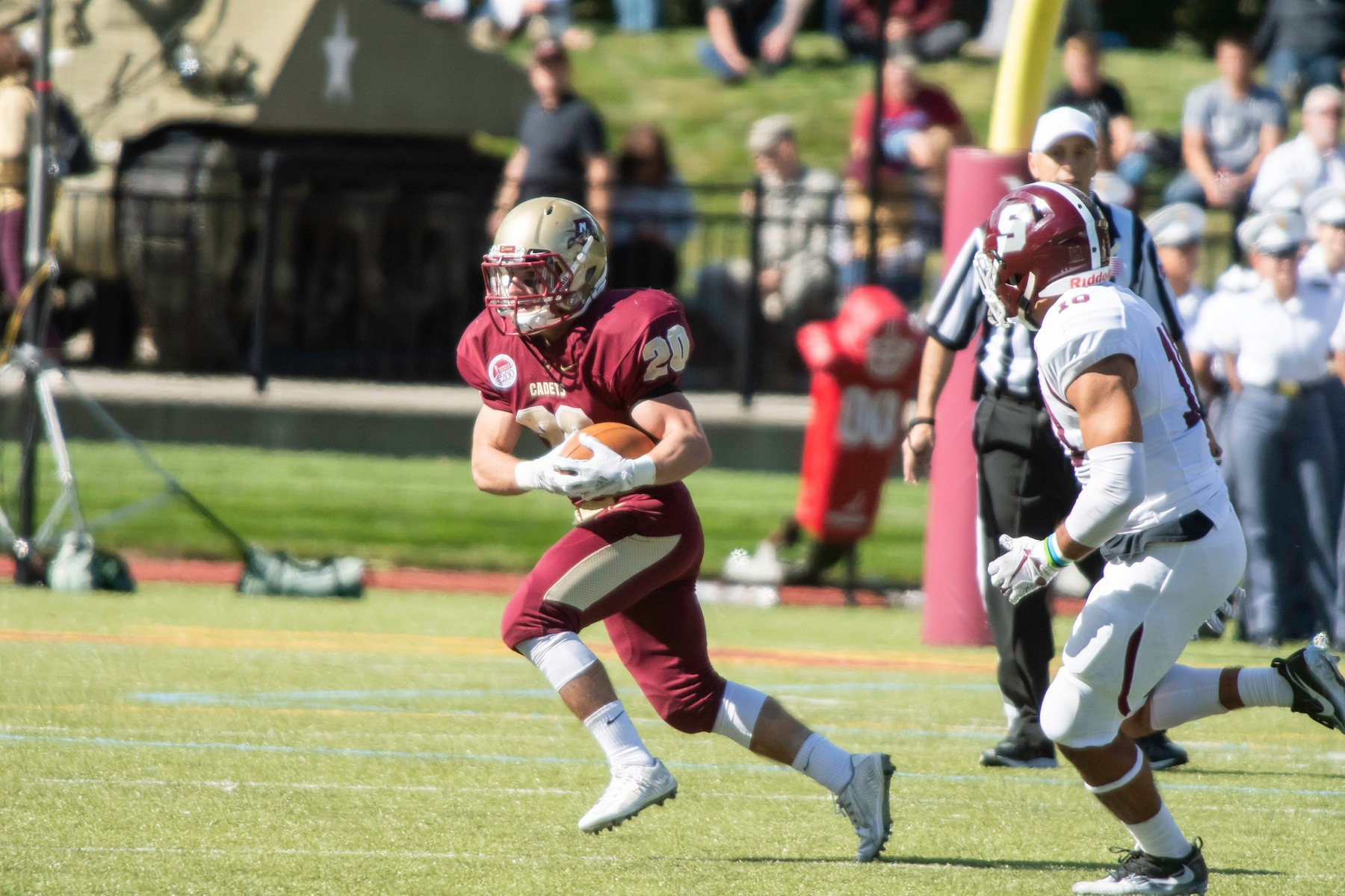 Football: Cadets take NEWMAC victory from Maine Maritime, 15-7