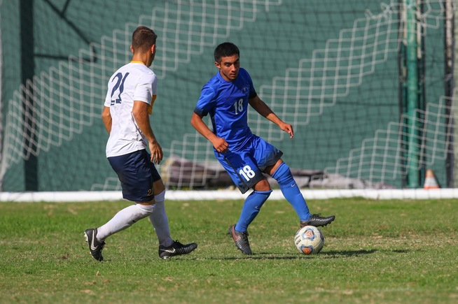 Oscar Canela scored twice and assisted on another goal in the Falcons win