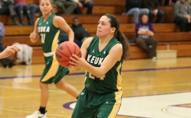 Lauren Anten (24) led Keuka College with 14 points on Friday