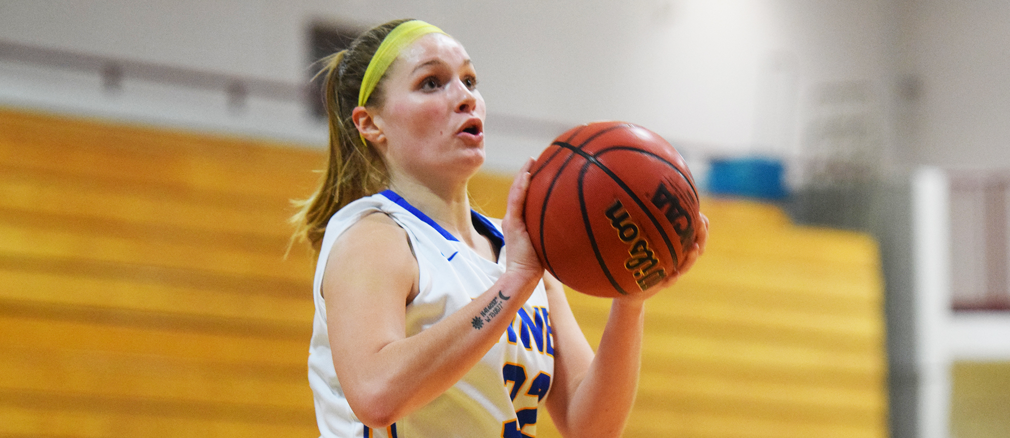 Sophomore Courtney Carlson scored a career-high 18 points in Western New England's 53-35 win at Curry on Thursday. (Photo by Rachael Margossian)