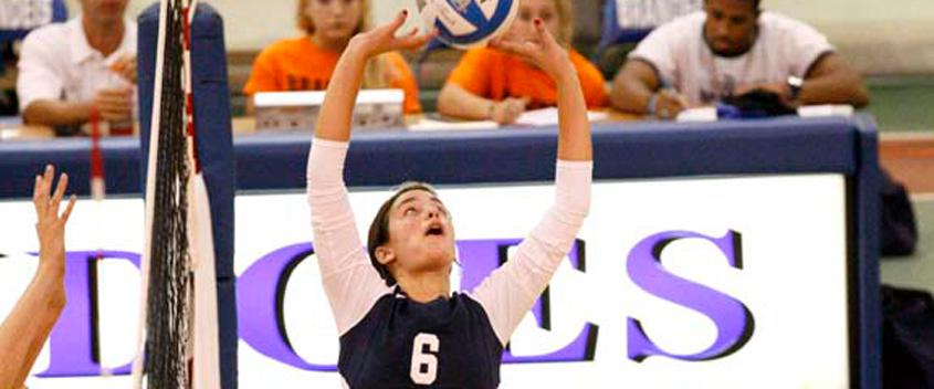 Volleyball falls to Wellesley, 3-0, in midweek match