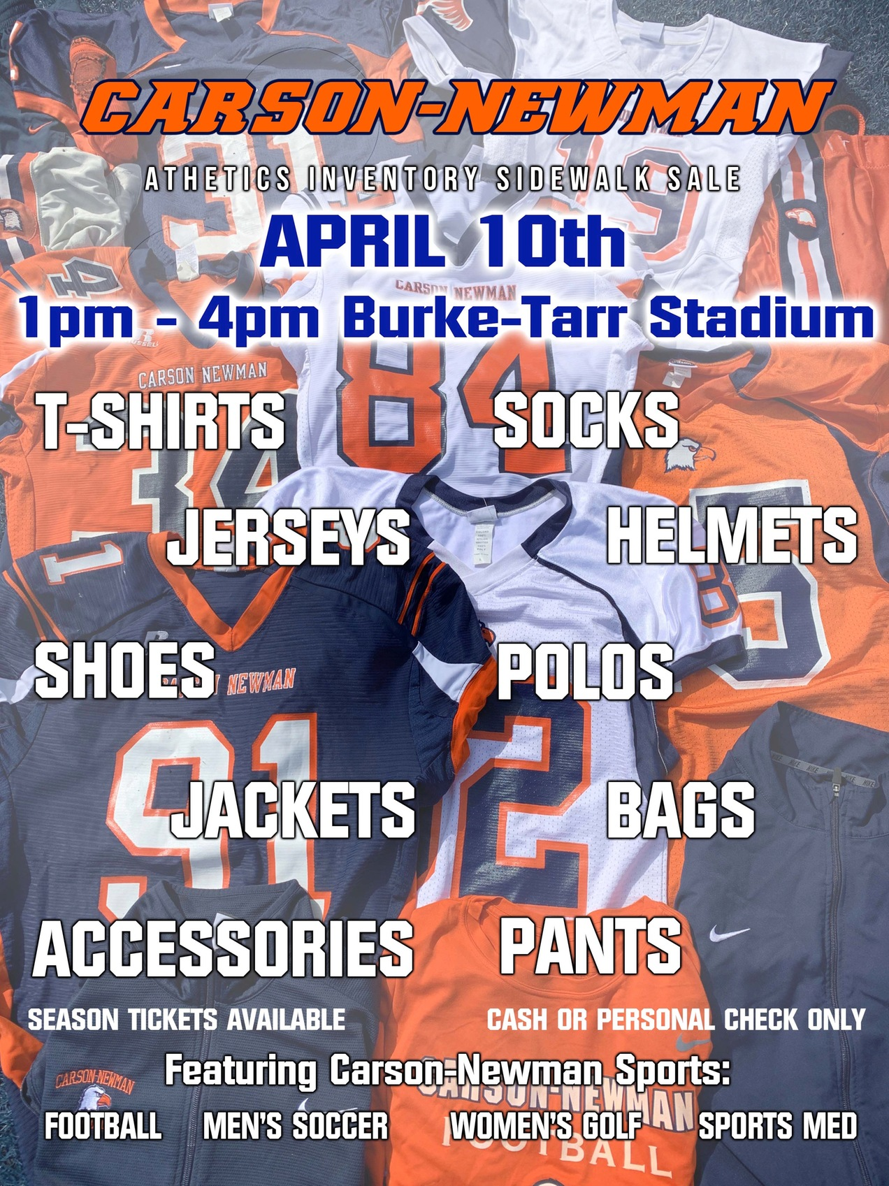 Athletic Department sidewalk sale set for April 10