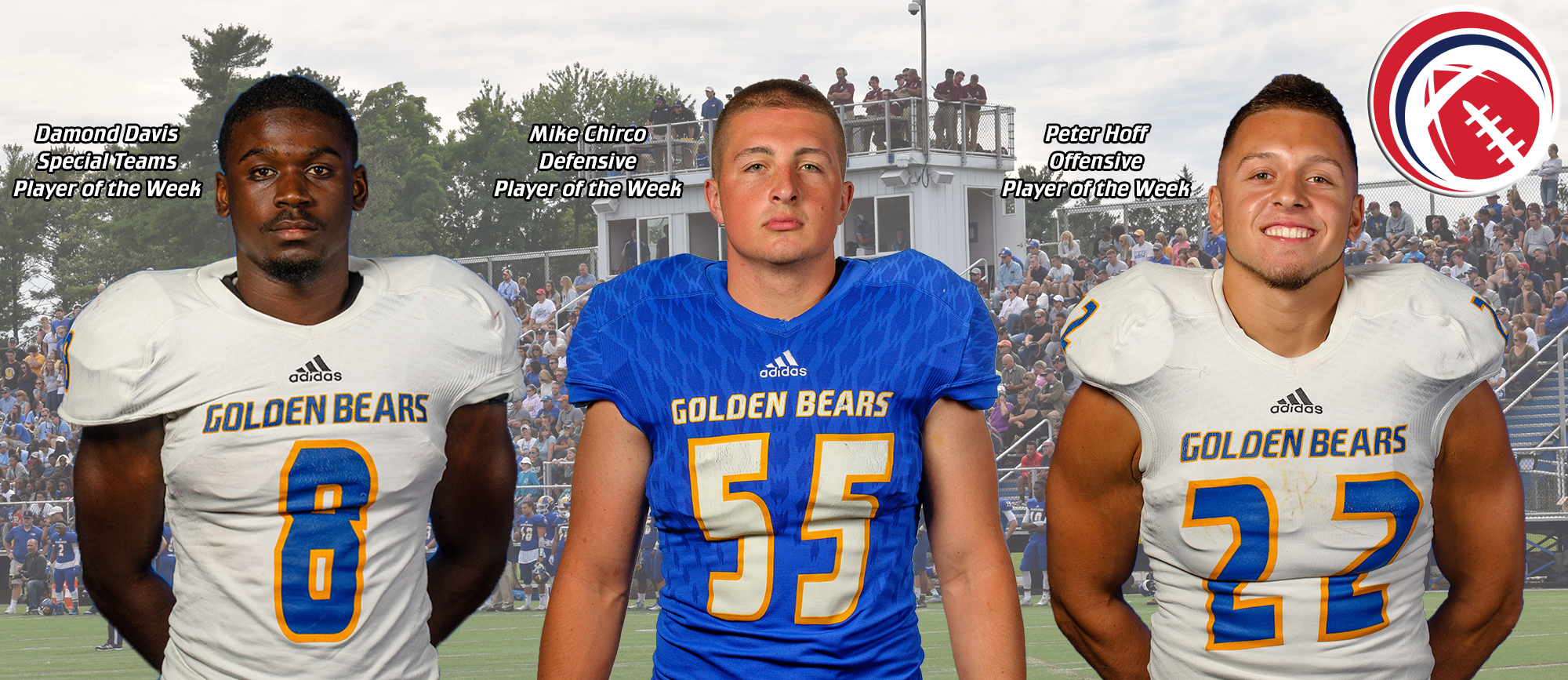 Trio of Golden Bears Receive Weekly CCC Football Honors