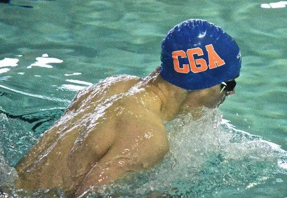 Men's Swimming Falls at Merchant Marine