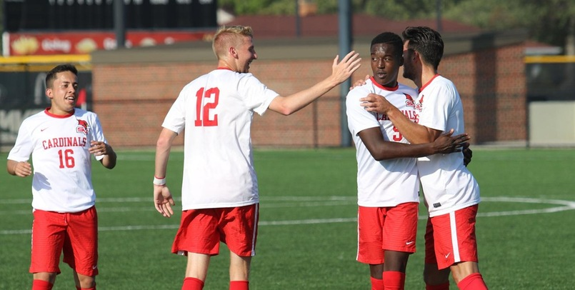 #13 Men's Soccer Claims 2-1 Road Victory at Purdue Northwest