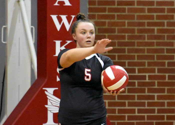 Ashley Murphy had 32 assists in Friday's loss to Washington and Lee.