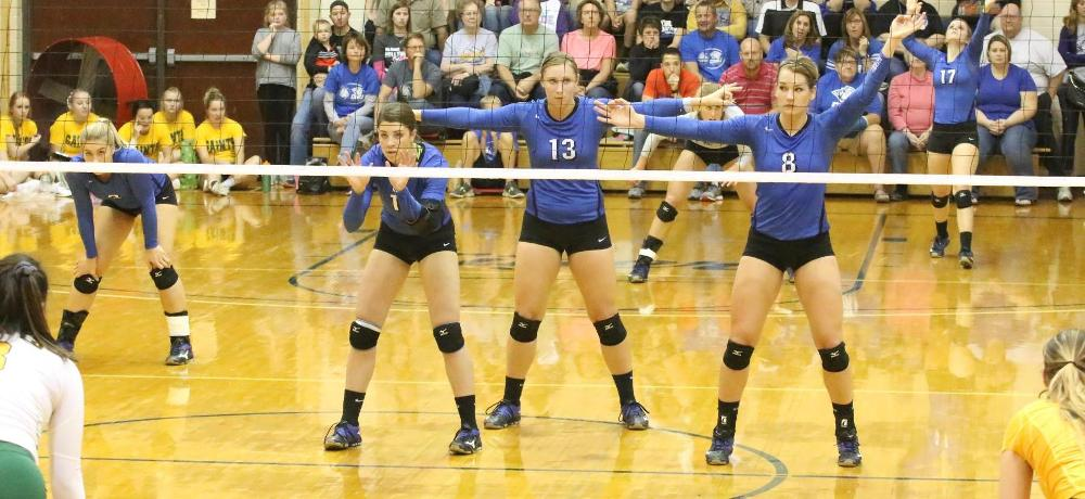 Tigers cruise past Saints in three sets