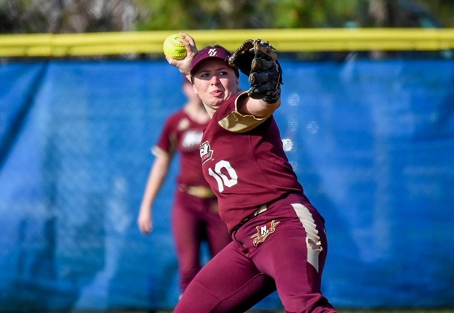 Katie Reid softball action Florida (Chandler Mosher '20)