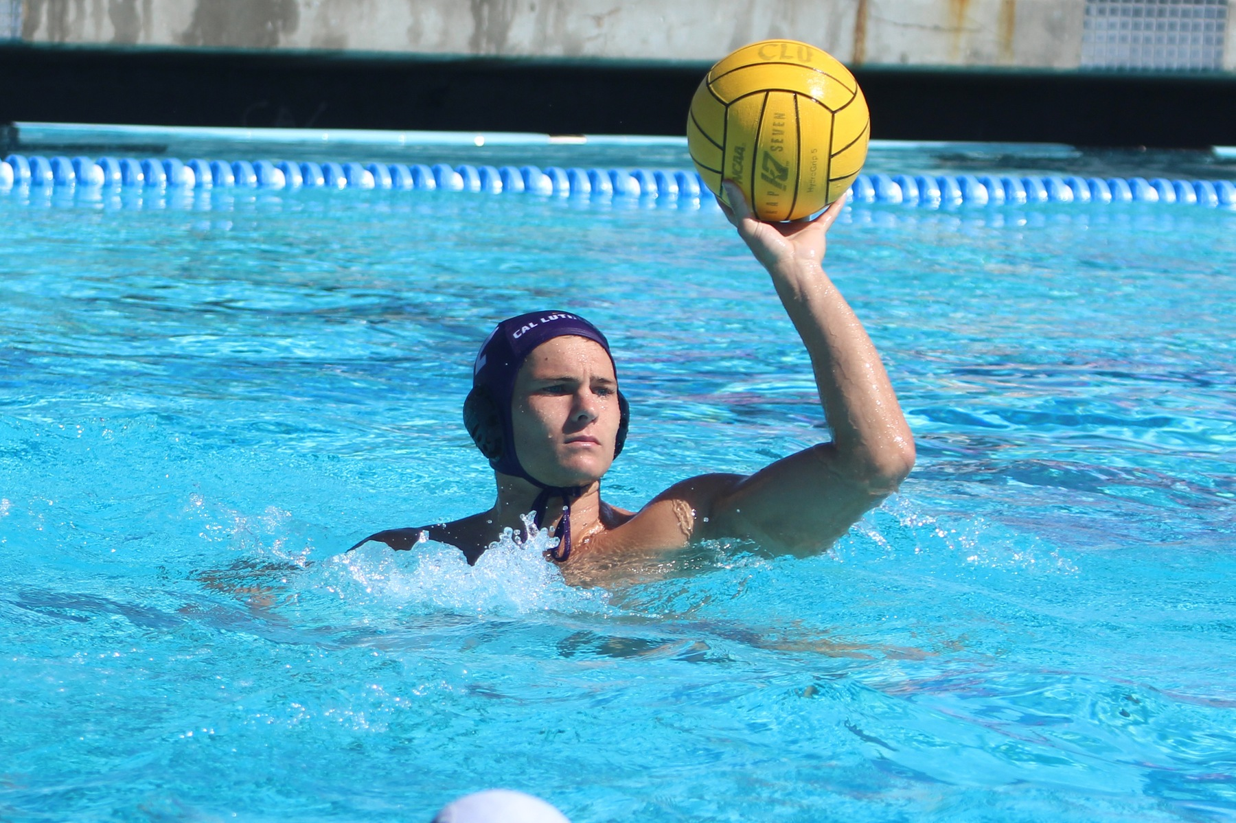 Justin Krause (pictured) and Ben Brown both scored a hat trick to lead CLU past ULV 11-7. (Photo :Claire Caldera)