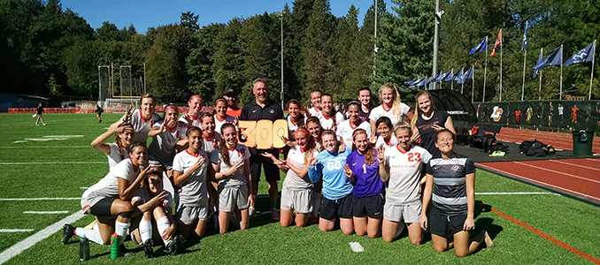 Tursi Wins 300th Career Game as Women's Soccer Defeats Pacific 4-3 in Double-Overtime