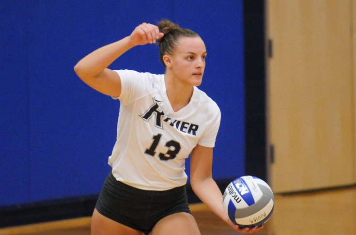 Women's Volleyball: Pollard, Raiders sweep past Norwich, 3-0
