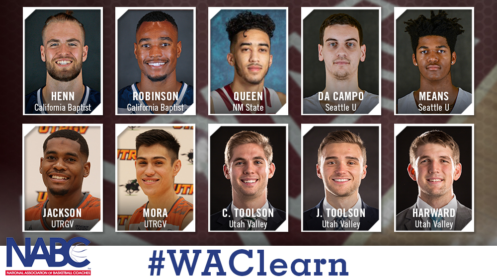 Ten WAC Men's Basketball Players Named to NABC Honors Court