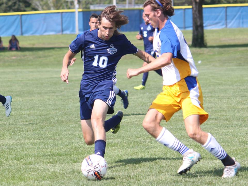 Men's Soccer Downs Hawks 8-1
