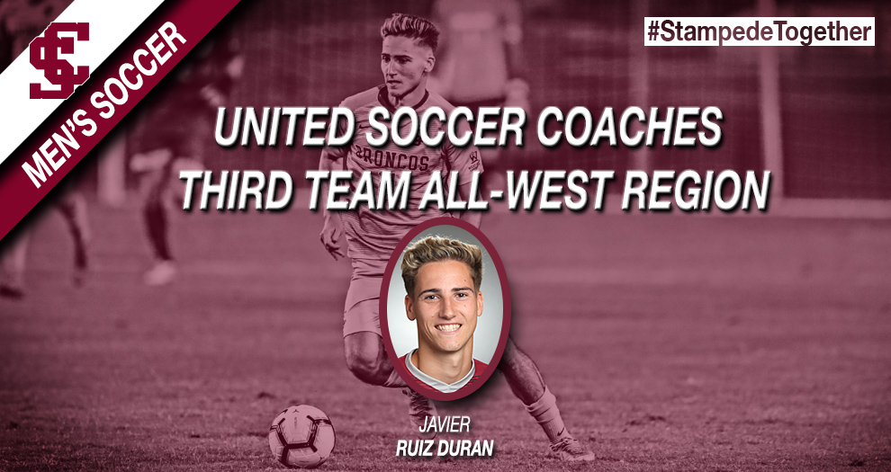 Men's Soccer Sophomore Named All-West Region