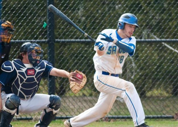 Joe Haley delivered a sac fly during Game One as Salve Regina took the opener, 4-0.