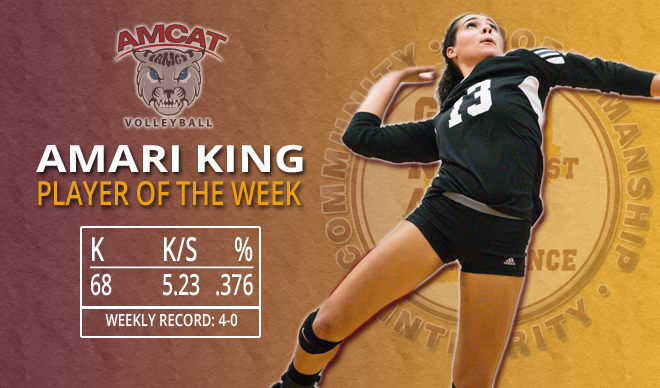 King, Clancy Earn GNAC Weekly Accolades