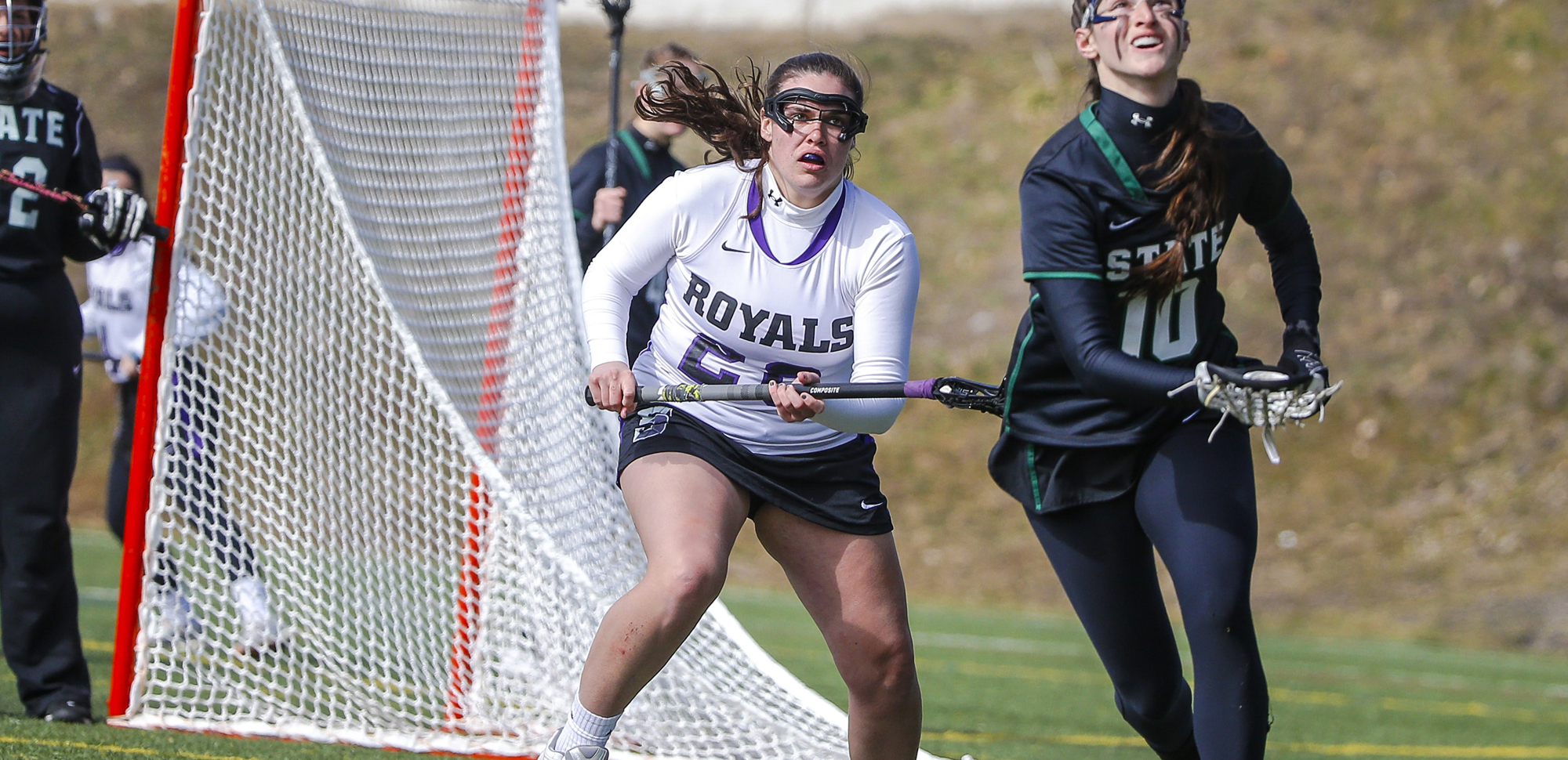 Junior Morgan Windisch scored three goals, recorded two assists, and had three ground balls, leading the Scranton women's lacrosse team to a 15-11 come from behind win at Elizabethtown on Thursday.