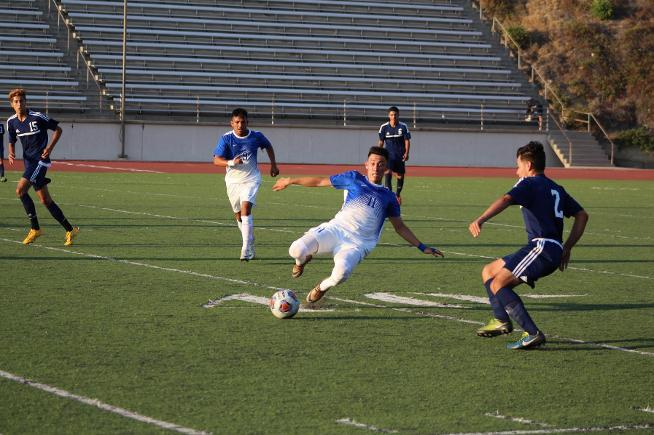 File Photo: Edwin Corona and the Falcons went 1-1-1 at the Hartnell Tournament
