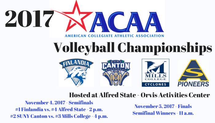 2017 ACAA Championships to be held at Alfred State