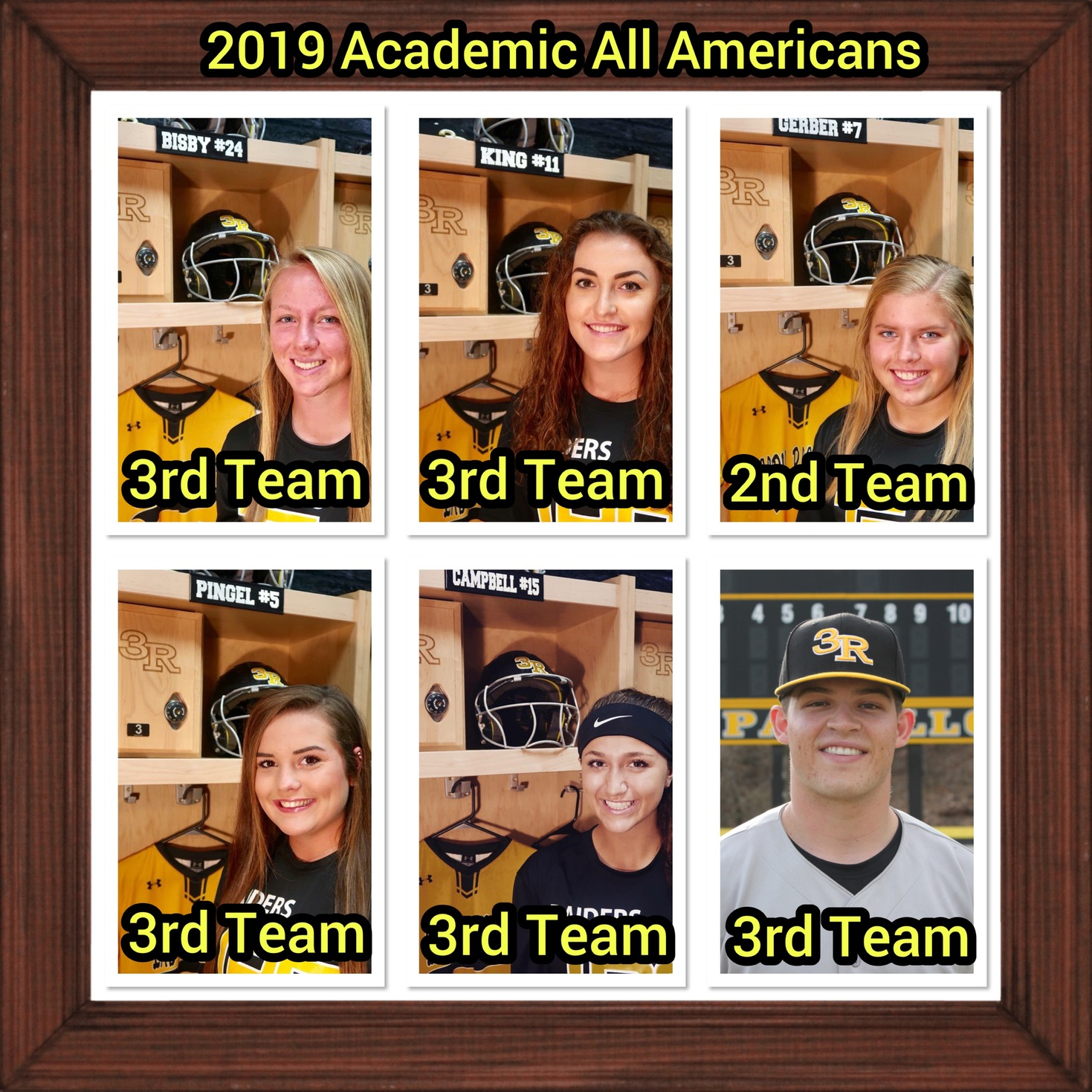 Six athletes named NJCAA Academic All-American Student-Athletes