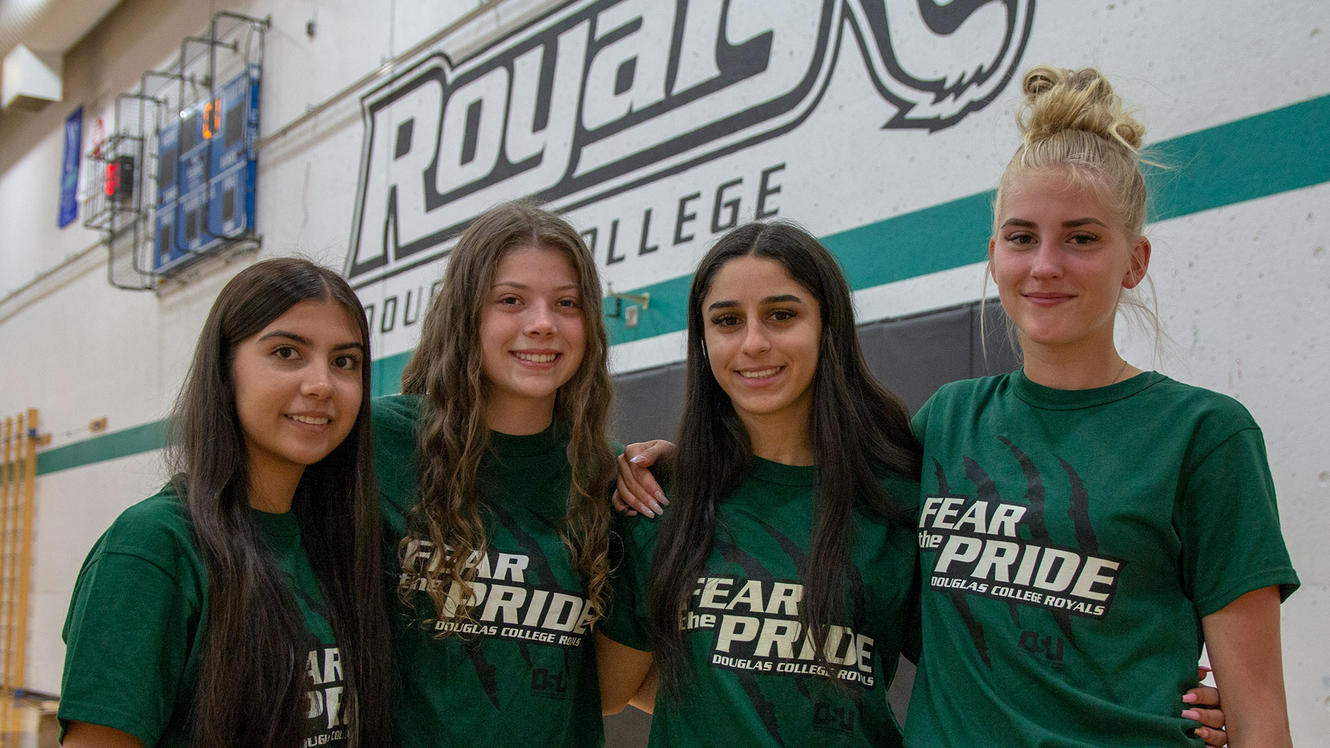 Newest additions to the 2019-20 Royals recruiting class. Pictured L-R: Kya Cleto, Taylor Spong, Isabella Silva, and Sophie Irvine