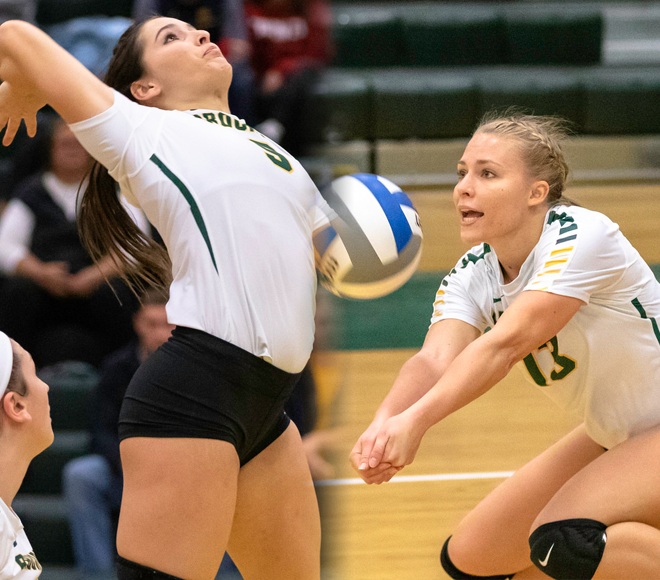 Brockport's Birth and Taylor selected as Women's Volleyball Athletes of the Week