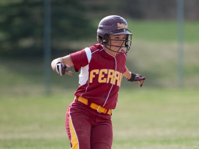 Rachel Wade posted a RBI single in FSU's 3-2 loss at Wayne State in game one.  (Photo by Ed Hyde)