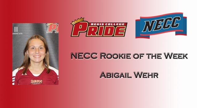 WEHR GRABS CONFERENCE HONORS