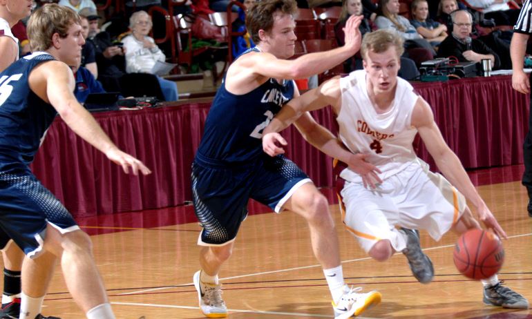 Junior Tom Fraase had a team-high 12 points and a game-high seven rebounds in the Cobbers' loss at Carleton.