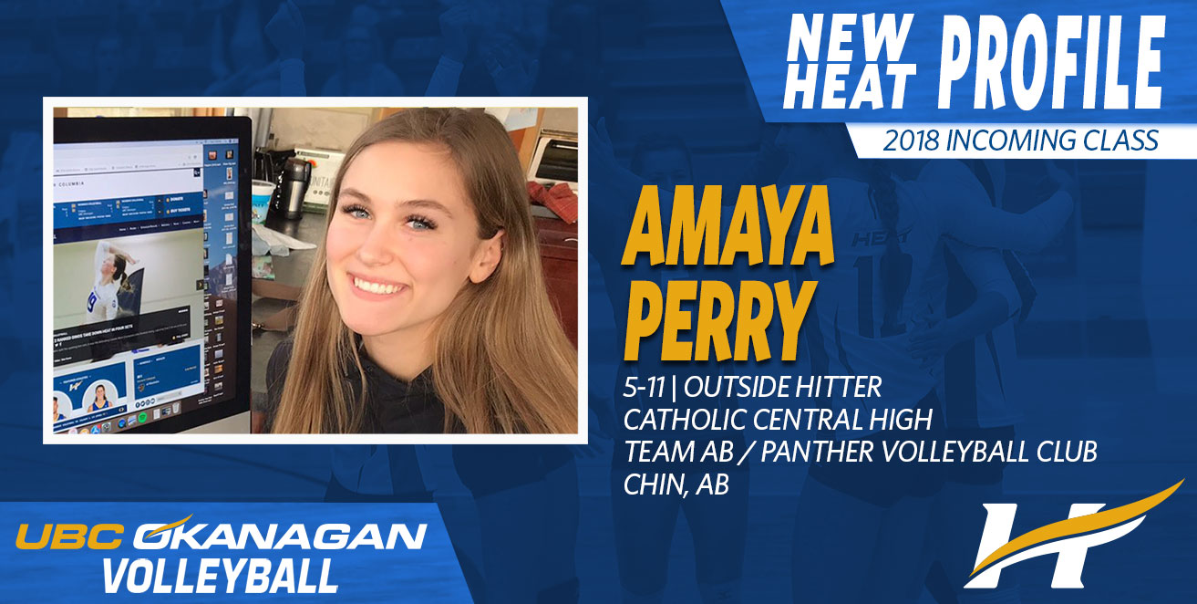 Heat women's volleyball have signed former Team Alberta captain Amaya Perry
