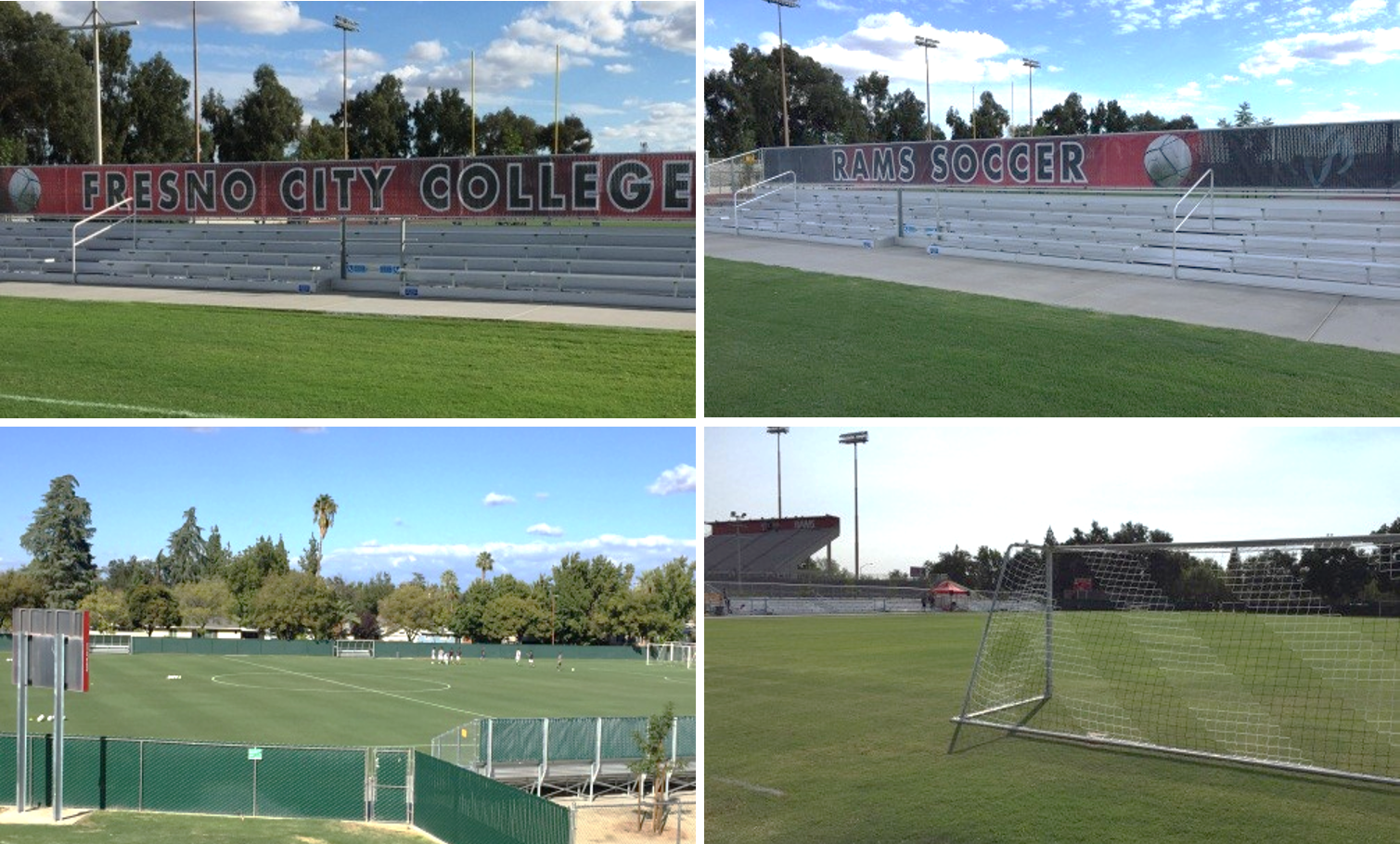 various photos of the Ram's Soccer Field.