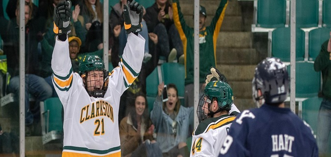 Clarkson opens ECAC Hockey postseason with dominating win over Yale