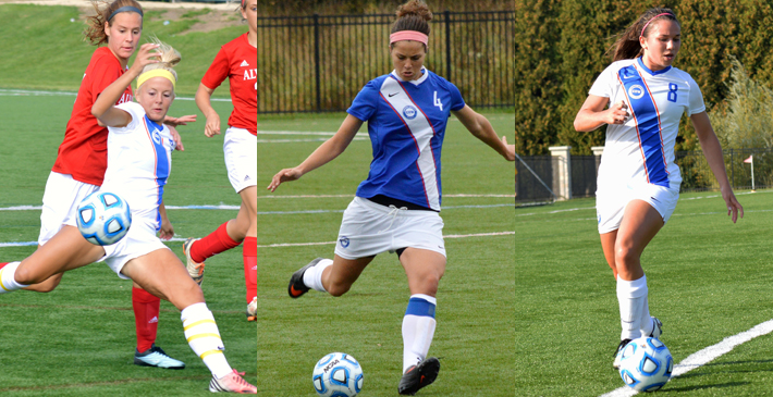 Women's Soccer places three on All-NACC First Team