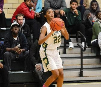 Sierra McDuffie's three-pointer put Felician ahead late in overtime of its 68-64 win at Bloomfield on Jan. 8, 2014.