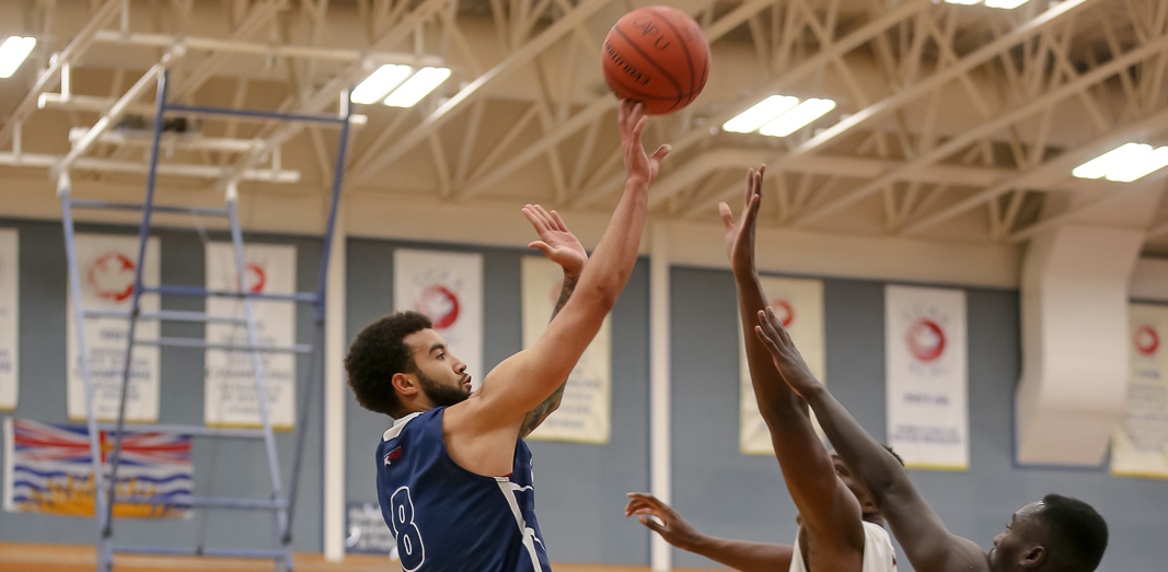 Denver Sparks-Guest had a combined 75 points and 18 rebounds across the two-game series against Camosun. Photo Paul Yates / Vancouver Sports Pictures.