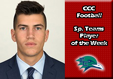 John Glaser-Endicott, CCC Football: Special Teams Player of the Week