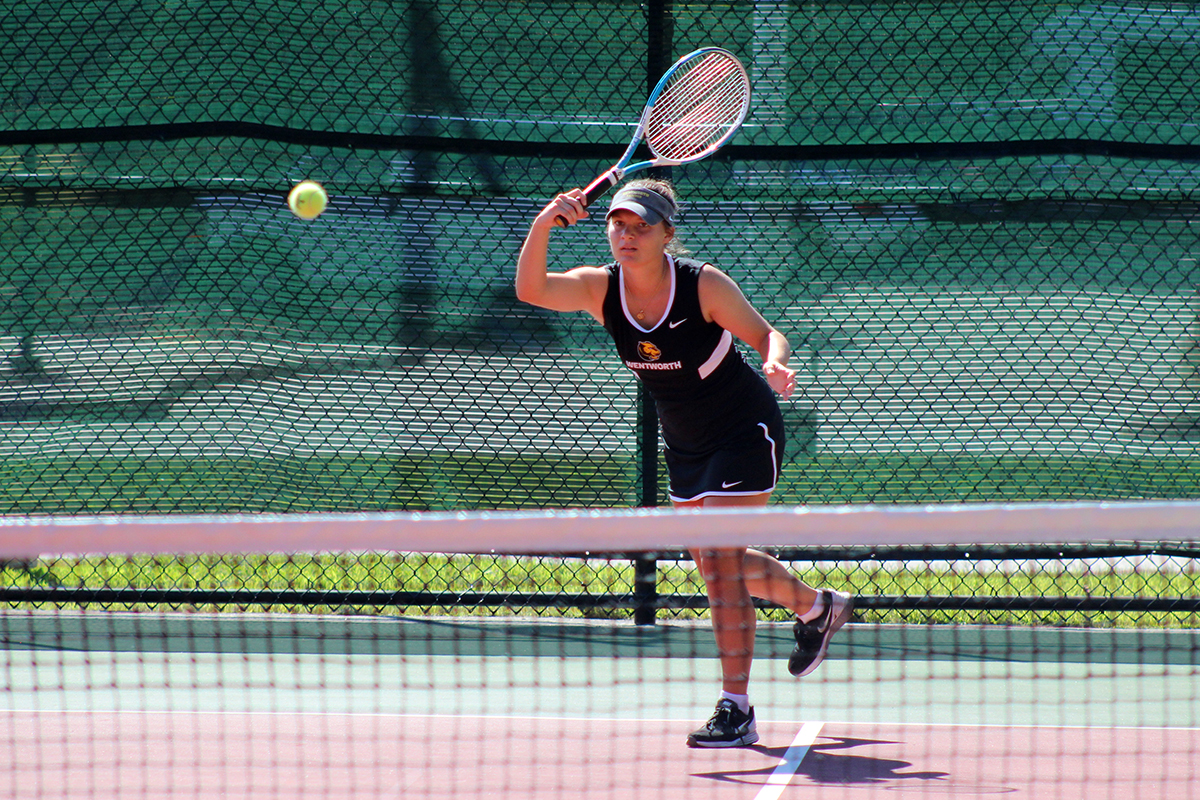 Women's Tennis Doubled up at Simmons